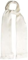 Saint Laurent Fringed silk-satin scarf