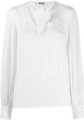 MSGM pussy-bow blouse