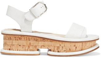 Gabriela Hearst Bradley Cork-effect Leather Platform Sandals