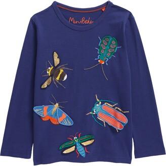 Boden Kids' Bug Applique T-Shirt