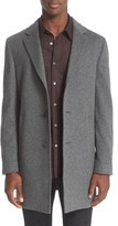 John Varvatos Men's Trim Fit Wool & Cashmere Overcoat