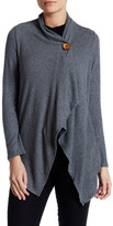 Bobeau One Button Fleece Sweater (Petite)