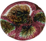 One Kings Lane Vintage 19th-C. Majolica Begonia Cake Stand