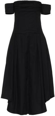 KHAITE Amanda off-shoulder cotton dress