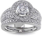 JCPenney MODERN BRIDE 1 CT. T.W. Diamond 14K White Gold Bridal Ring Set