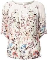 **Billie & Blossom Border Floral Blouse