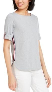 Tommy Hilfiger Boat-Neck Striped-Side Top