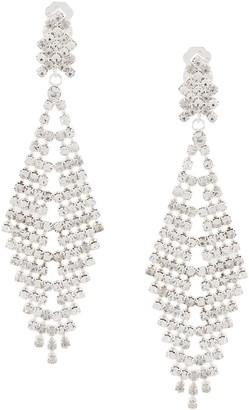 Susan Caplan Vintage 1990s chandelier drop clip-on earrings