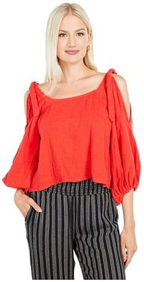 Billabong High Demands Top (Rad Red) Women's Clothing