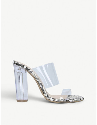 Kurt Geiger Ffion transparent two-part sandals