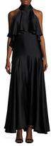 Temperley London Luna Flounce Halterneck Dress