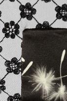Thakoon Dandelion-print wool-blend satin dress