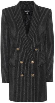 Balmain Wool-blend blazer minidress