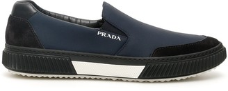 Prada Logo Slip On Sneakers