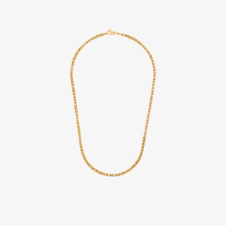 Hermina Athens gold-plated Theodora woven chain necklace