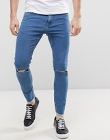 ONLY & SONS Jeans in Skinny Fit with Rip Knee and Cropped Raw Hem