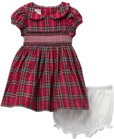 Pippa Pastourelle By And Julie Plaid Smocked Dress (Baby Girls 0-9M)