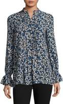 Michael Kors Silk Floral Top