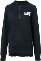 Baja East zipped hoodie - women - Bamboo/Cotton - 0