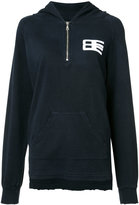 Baja East zipped hoodie - women - Bamboo/Cotton - 1