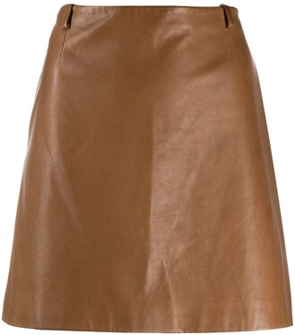 Prada Pre-Owned 2000s A-line leather skirt