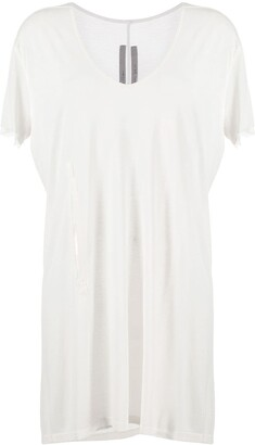 Rick Owens cut-out oversized T-shirt