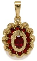 Tatitoto Gioie Women's Pendant in 18k Gold with Garnet, 4.6 Grams