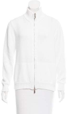 Malo Long Sleeve Zip-Up Sweater