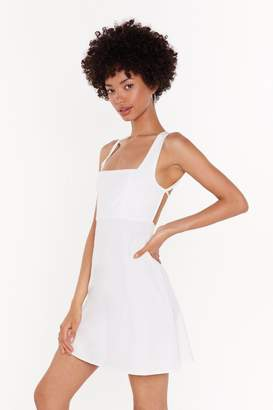 Nasty Gal Womens Turning My Back On You Tie Mini Dress - White - 14