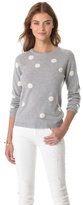 Chinti and Parker Polka Dot Cashmere Sweater