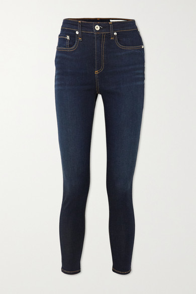 Thumbnail for your product : Rag & Bone Nina High-rise Skinny Jeans - Dark denim