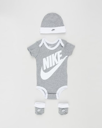 Nike Grey Beanies - Futura Logo Boxed Set - Babies - Size 0-6 months at The Iconic