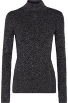 Diane von Furstenberg Tess Metallic Merino Wool-Blend Turtleneck Sweater