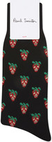 Paul Smith Strawberry skulls cotton socks