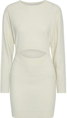 IRO Devlin Cutout Merino Wool And Cashmere-blend Mini Dress