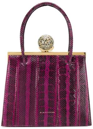 M2Malletier Mulberry snakeskin tote
