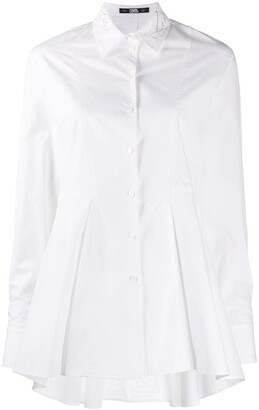 Karl Lagerfeld Paris Embroidered Peplum Shirt