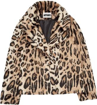 Apparis Gianna leopard-print coat