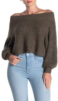 FAVLUX Off-the-Shoulder Knit Sweater