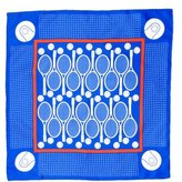 Hermes Silk Tennis Print Pocket Square