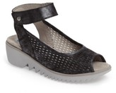 Wolky Women's Frosty Ankle Strap Wedge Sandal