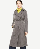Ann Taylor Petite Long Twill Trench Coat