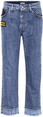 Miu Miu Embellished cropped jeans
