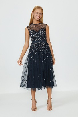 Coast Cluster Embellished Midi Dress