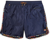 Missoni Mid-length Zigzag-trimmed Swim Shorts