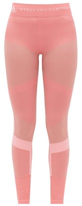 adidas by Stella McCartney High-rise Panelled Leggings - Womens - Pink