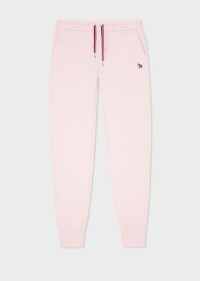 Paul Smith Women's Pink Zebra Logo Organic-Cotton Sweatpants