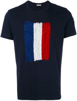 Moncler stitched logo T-shirt - men - Cotton/Polyester - L