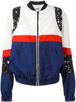 MSGM lace panel bomber jacket