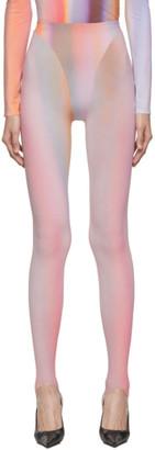 Thierry Mugler Multicolor Airbrush Leggings